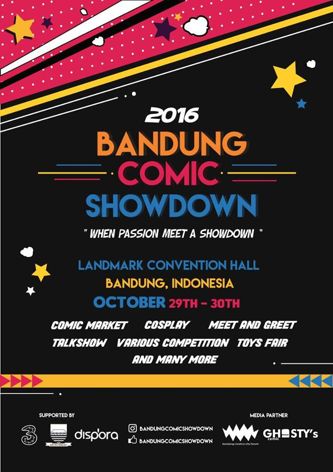 Bandung Comic Showdown - Landmark Hall Braga, 29 - 30 Oktober 2016
