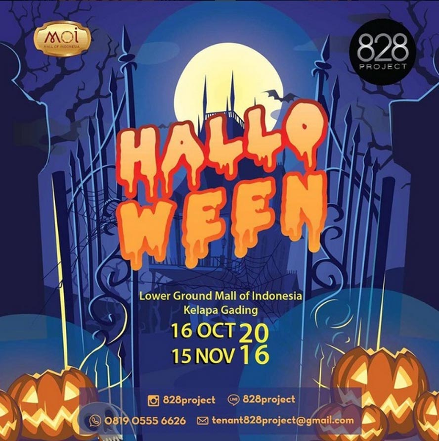 Bazaar Halloween - Mall of Indonesia (MOI), 16 Okt - 15 Nov 2016