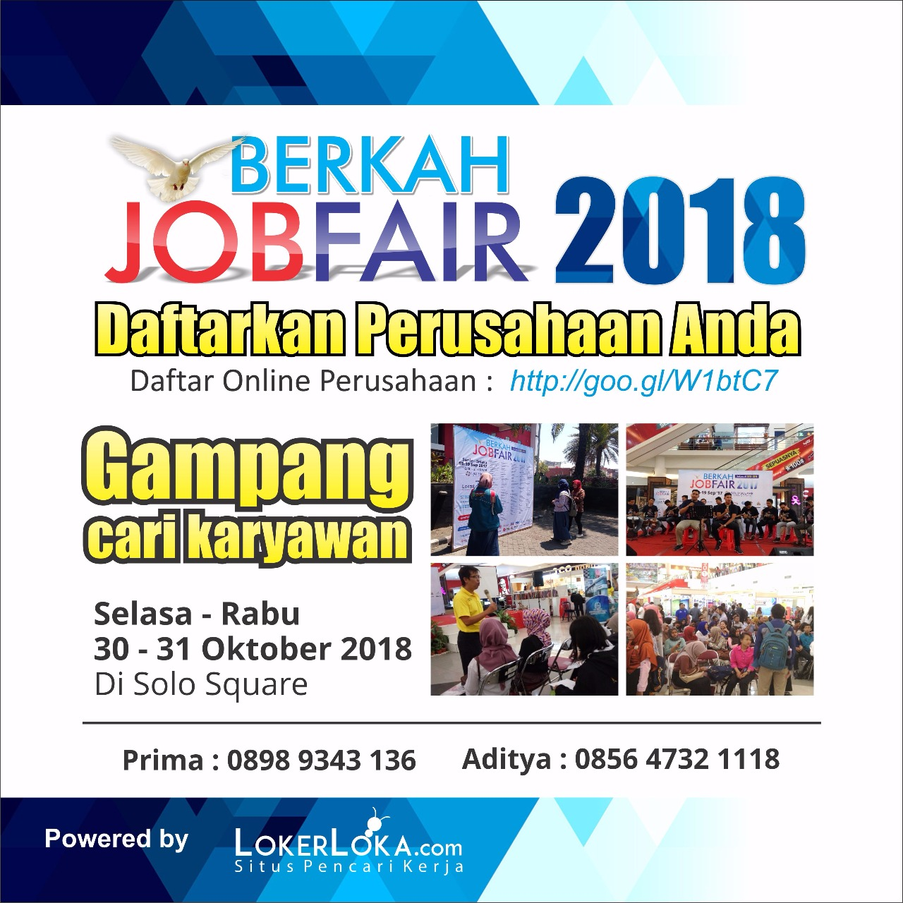 Berkah Job Fair - Solo Square Mall, 30-31 Oktober 2018