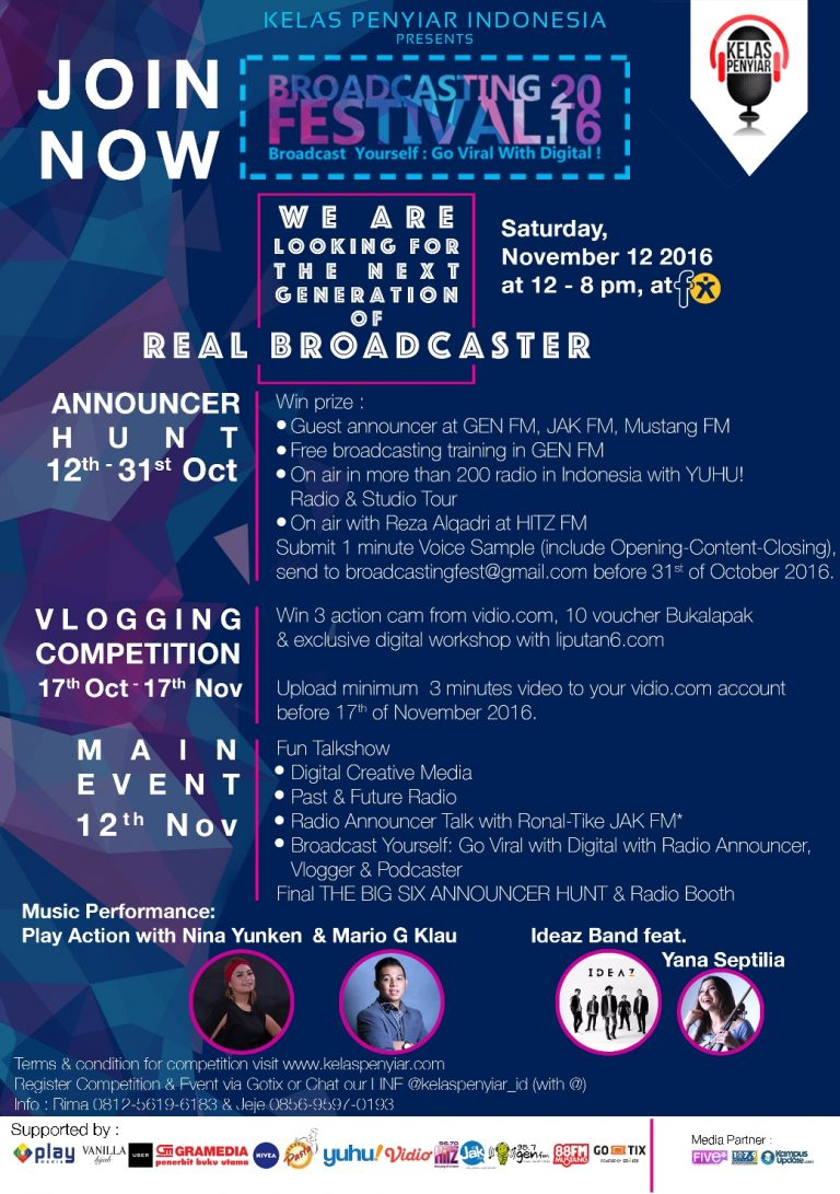 Broadcast Yourself Go Viral with Digital - FX Sudirman Jakarta, 12 November 2016