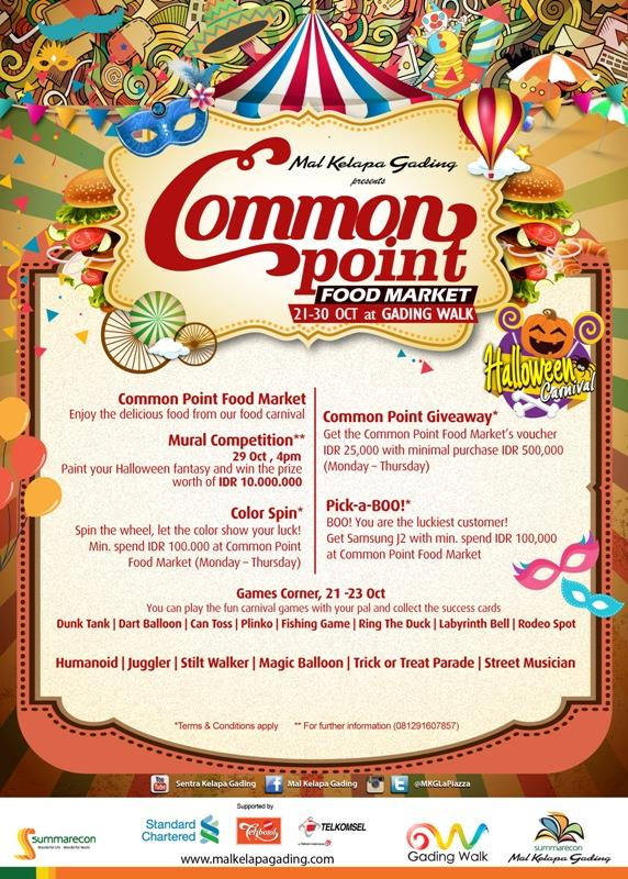 Common Point Food Market - Mal Kelapa Gading, 21 - 30 Oktober