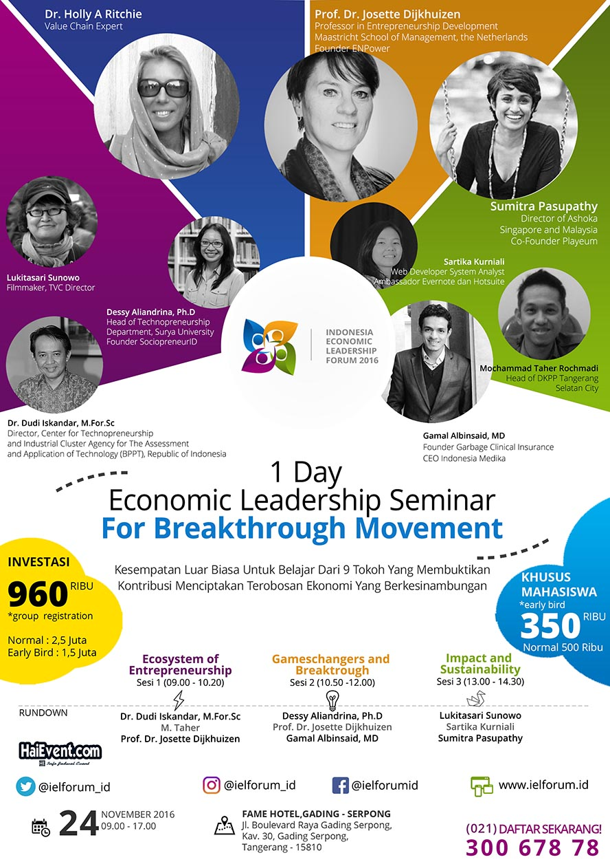IELF (Indonesia Economic Leadership Forum) - Fame Hotel Gading Serpong, 21 November 2016