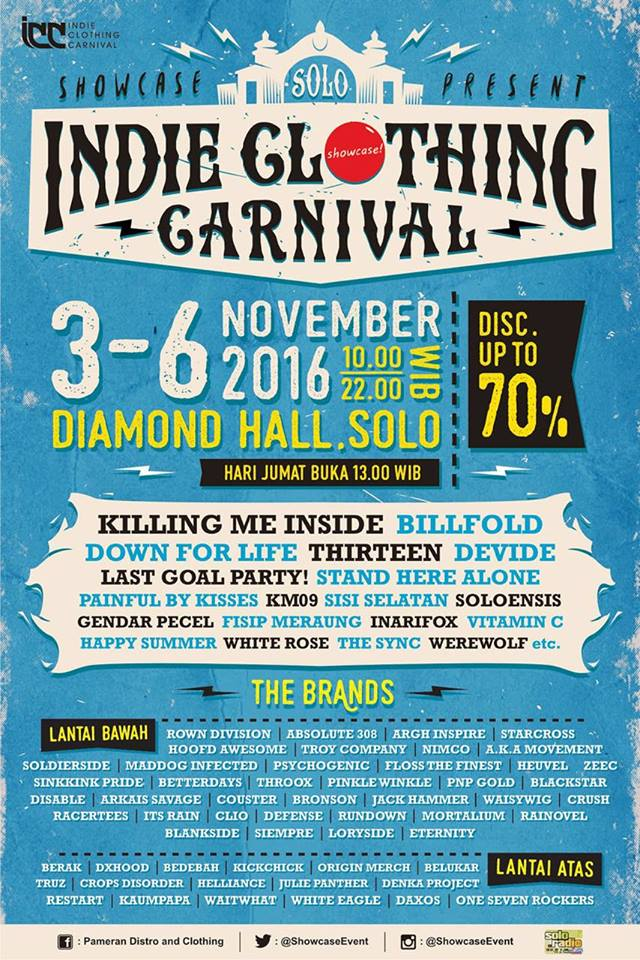 Indie Clothing Carnival Solo - Diamond Hall, 3 - 6 November 2016