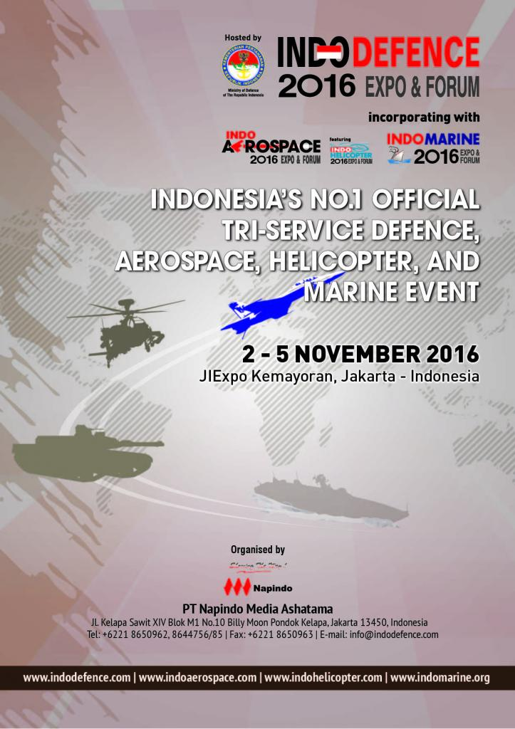 Indo Defence, Aerospace, Helicopter, Marine 2016 Expo Forum - JIExpo Kemayoran, 2 - 5 Nov 2016