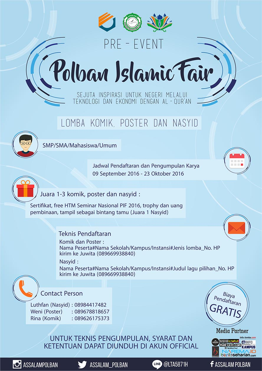 Islamic Competition Pre event Polban Islamic Fair 2016