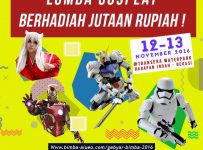 Lomba Cosplay Indonesia - Transera Waterpark Bekasi, 12 - 13 November 2016