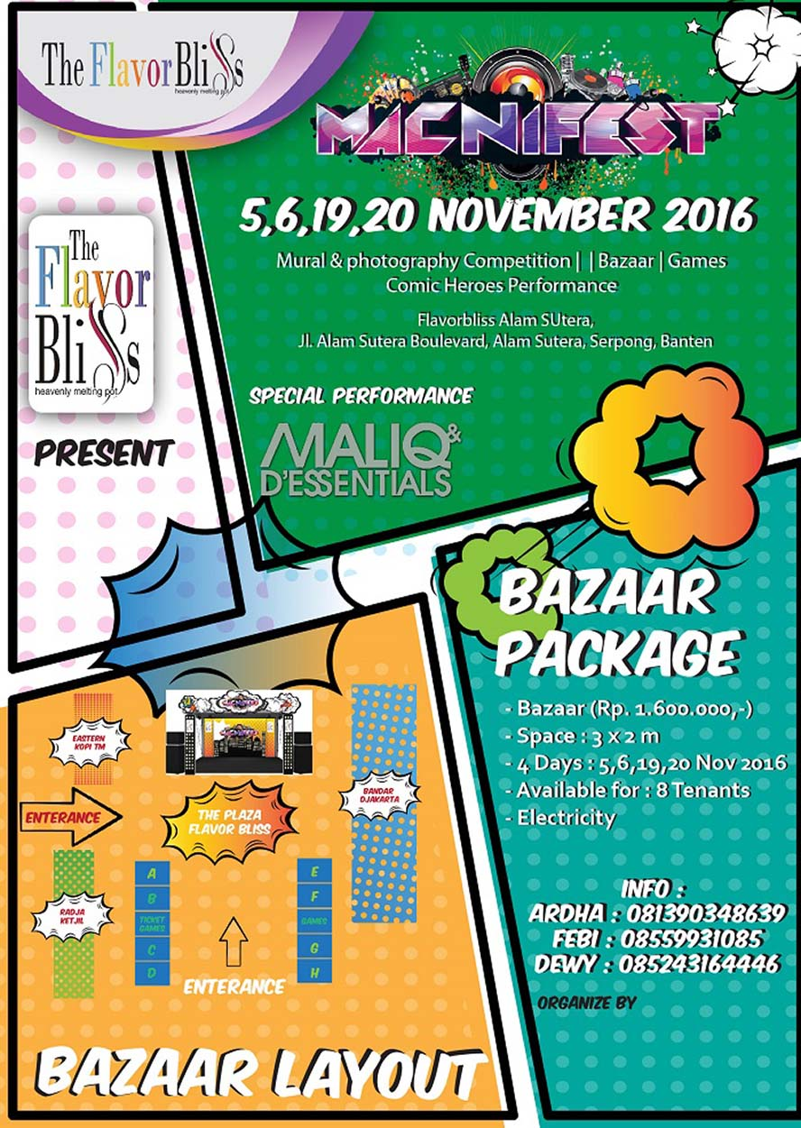 Macnifest 2016 Comic Heroes - The Flavor Bliss Alam Sutera
