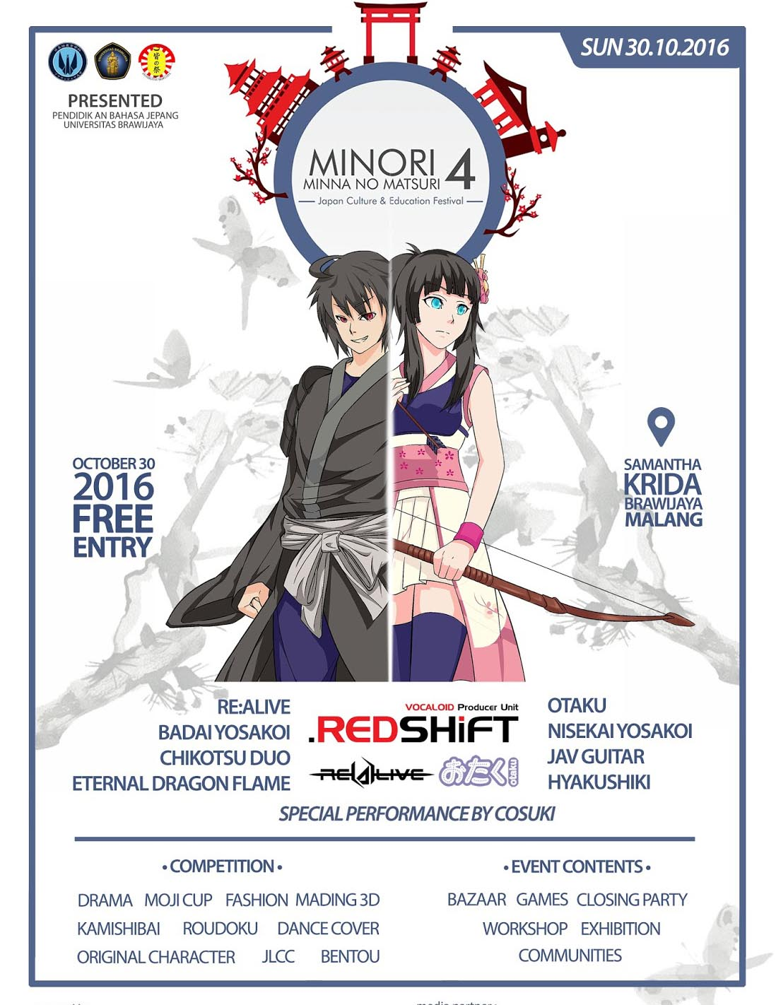Minna no Matsuri 4 : Japan Culture and Education Festival - Universitas Brawijaya, 30 Okt 2016