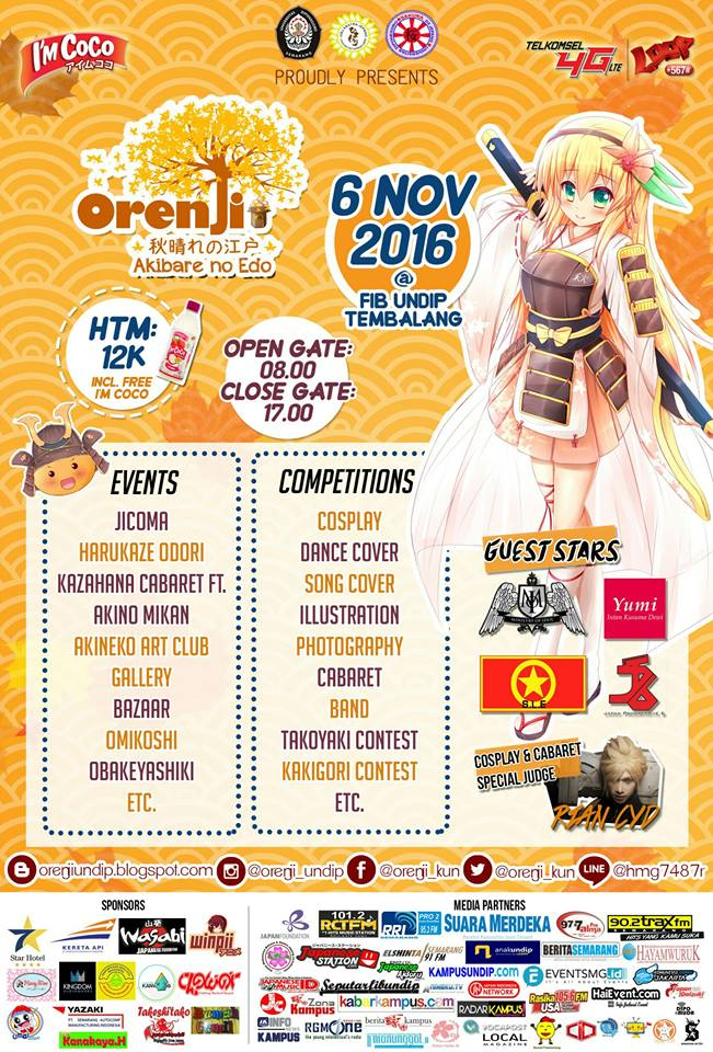 Original Event of Japan in Indonesia (Orenji) - Universitas Diponegoro, 6 November 2016