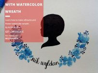 Workshop Silhouette With Watercolor Wreath - Kedai C1NO1 Jakarta, 12 November 2016