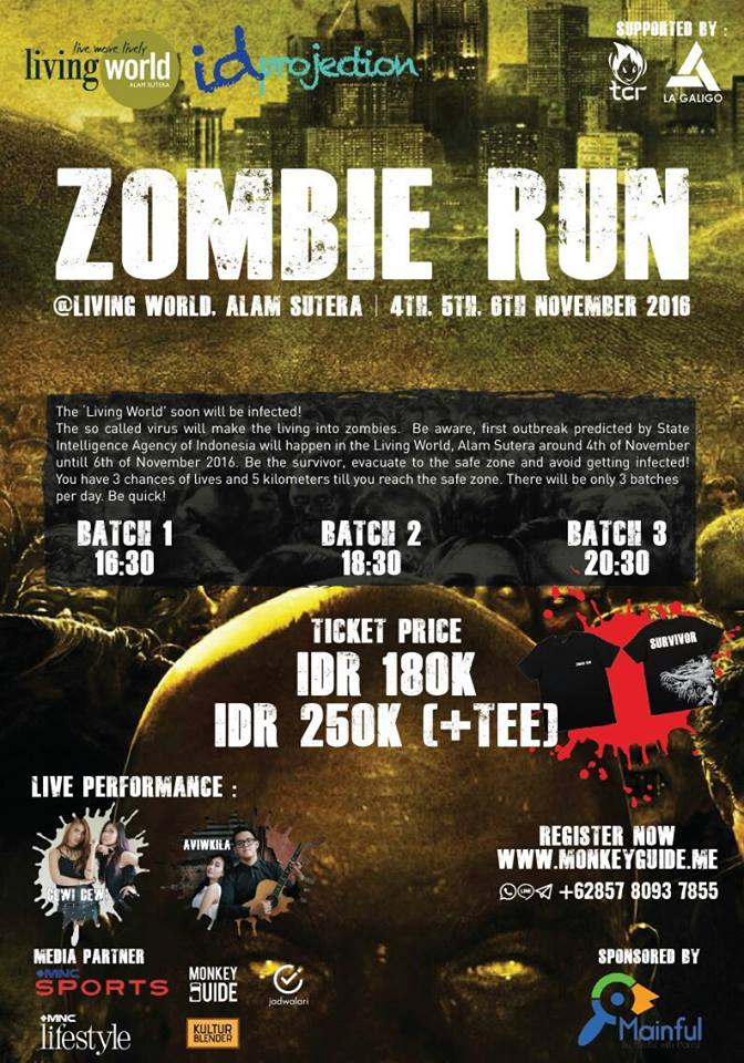 Zombie Run - Living World Alam Sutera, 4 - 6 November 2016