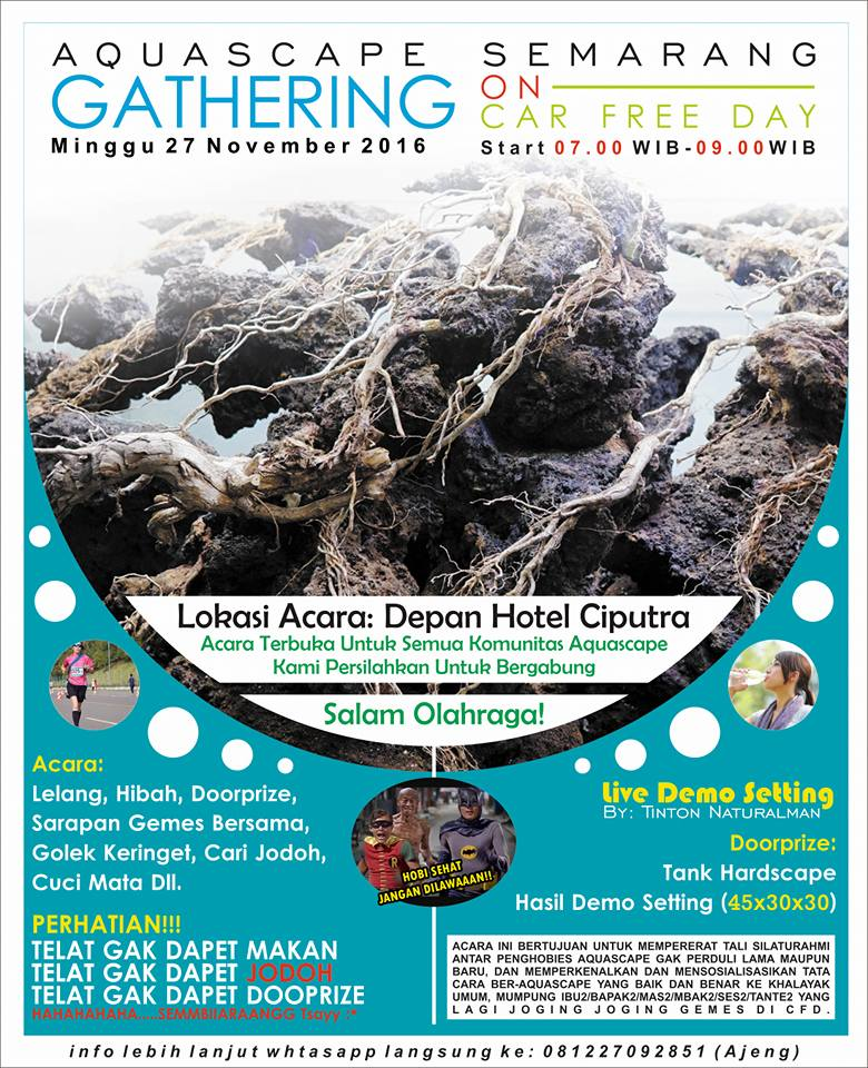Aquascape Gathering - Depan Hotel Ciputra Semarang, 27 November 2016