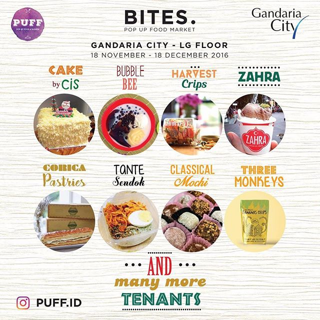 BITES Pop Up Food Market - Gandaria City Jakarta, 18 November - 18 Desember 2016