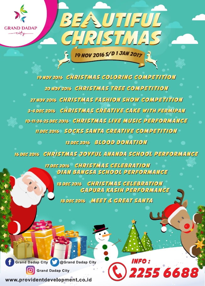 Beautiful Christmas - Grand Dadap City Mall, 19 Nov'16 - 1 Jan'17
