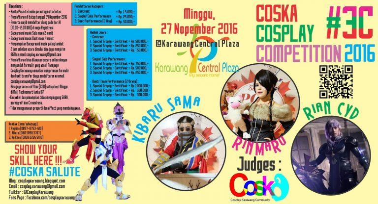 Cosplay Karawang (COSKA) : Cosplay Competition - Mall Karawang Central Plaza, 27 November 2016