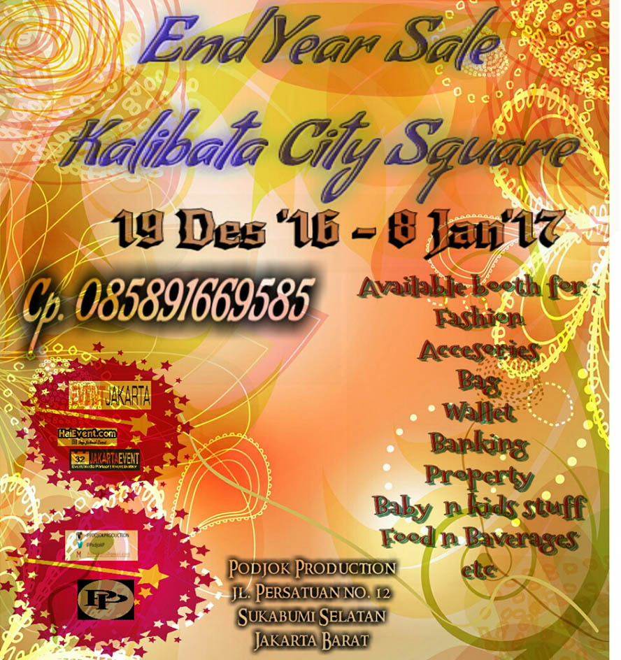 End Year Sale Bazaar - Kalibata City Square, 19 Des'16 - 08 Jan'17
