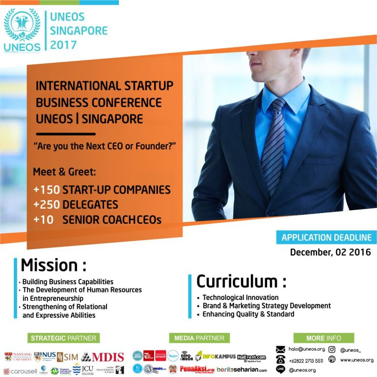 International StartUp Business Conference - Singapore, 27 November 2017