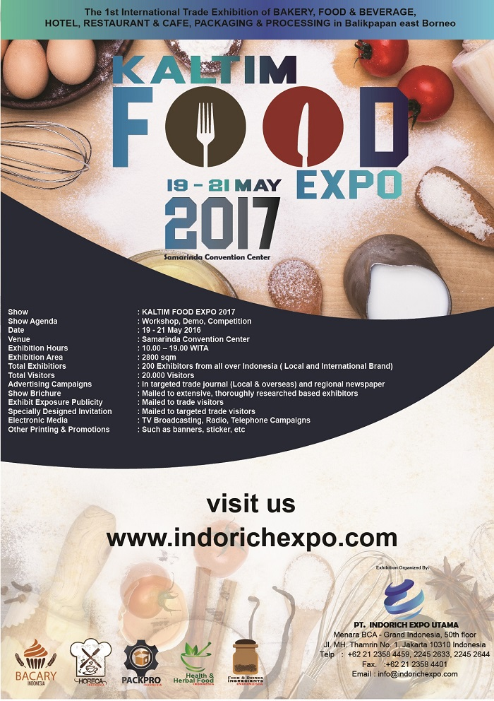 Kaltim Food Expo - Samarinda Convention Center, 19 - 21 Mei 2017