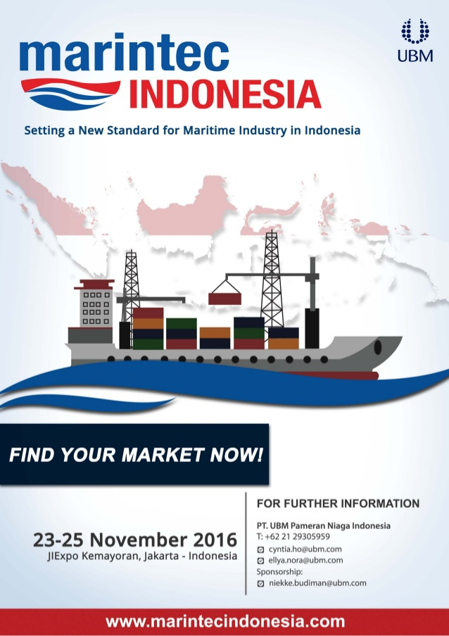 Marintec Indonesia - Jakarta International Expo (JIExpo), 23 - 25 November 2016