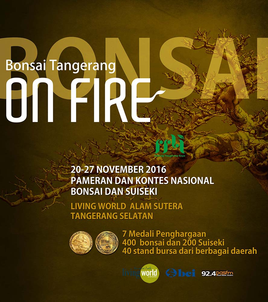 Pameran Bonsai Tangerang On Fire - Mall Living World Alam Sutera, 20 - 27 November 2016
