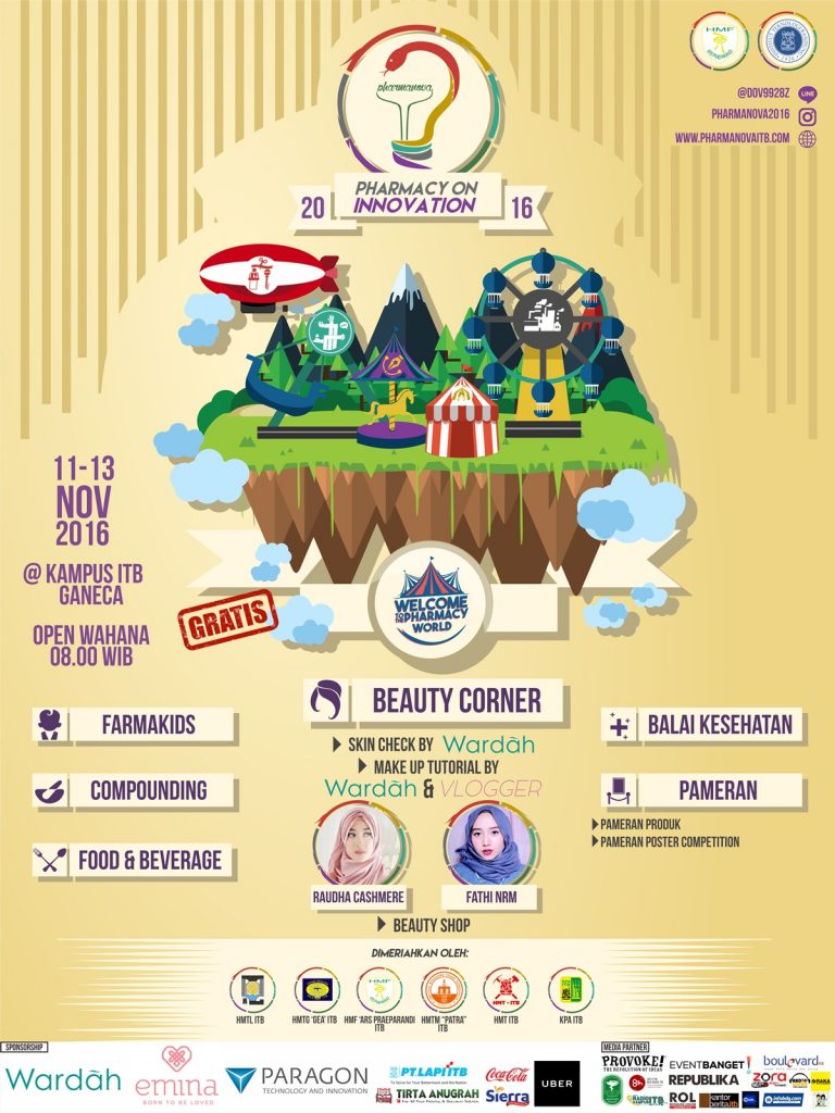 Pharmanova (Pharmacy on Innovation) - Kampus ITB Ganesa, 11 - 13 November 2016