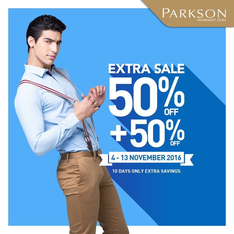 Promo Extra Sale Parkson Department Store, Periode Sampai 13 Nov'16
