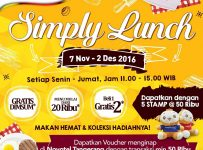 Promo Simply Lunch TangCity Mall, Periode 7 November - 2 Desember 2016