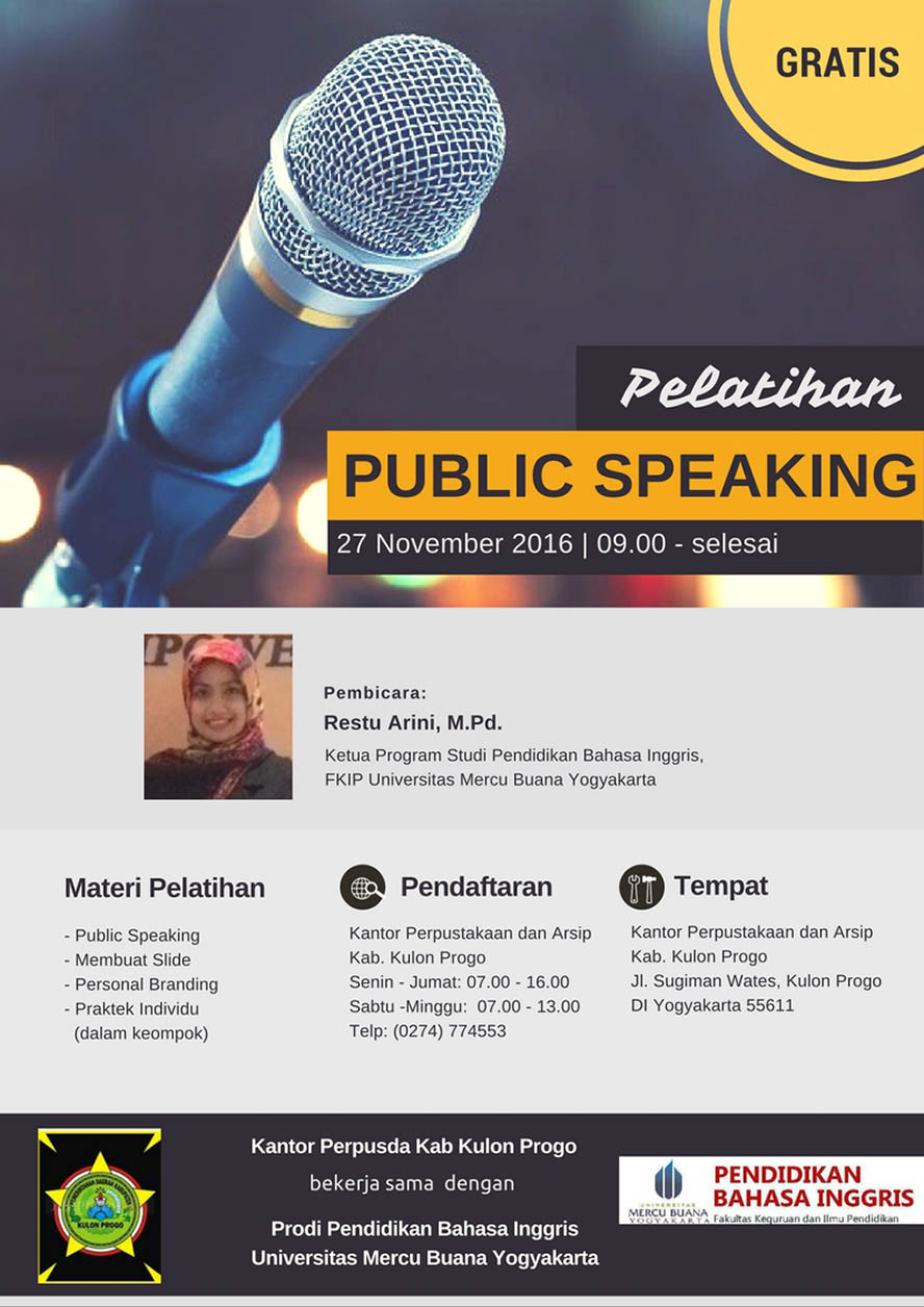 Public Speaking Workshop - Kulon Progo Yogyakarta, 27 November 2016