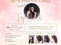 Semi Private Class Hairdo with Sofiehair - Jakarta Design Center, 28 Februari 2017