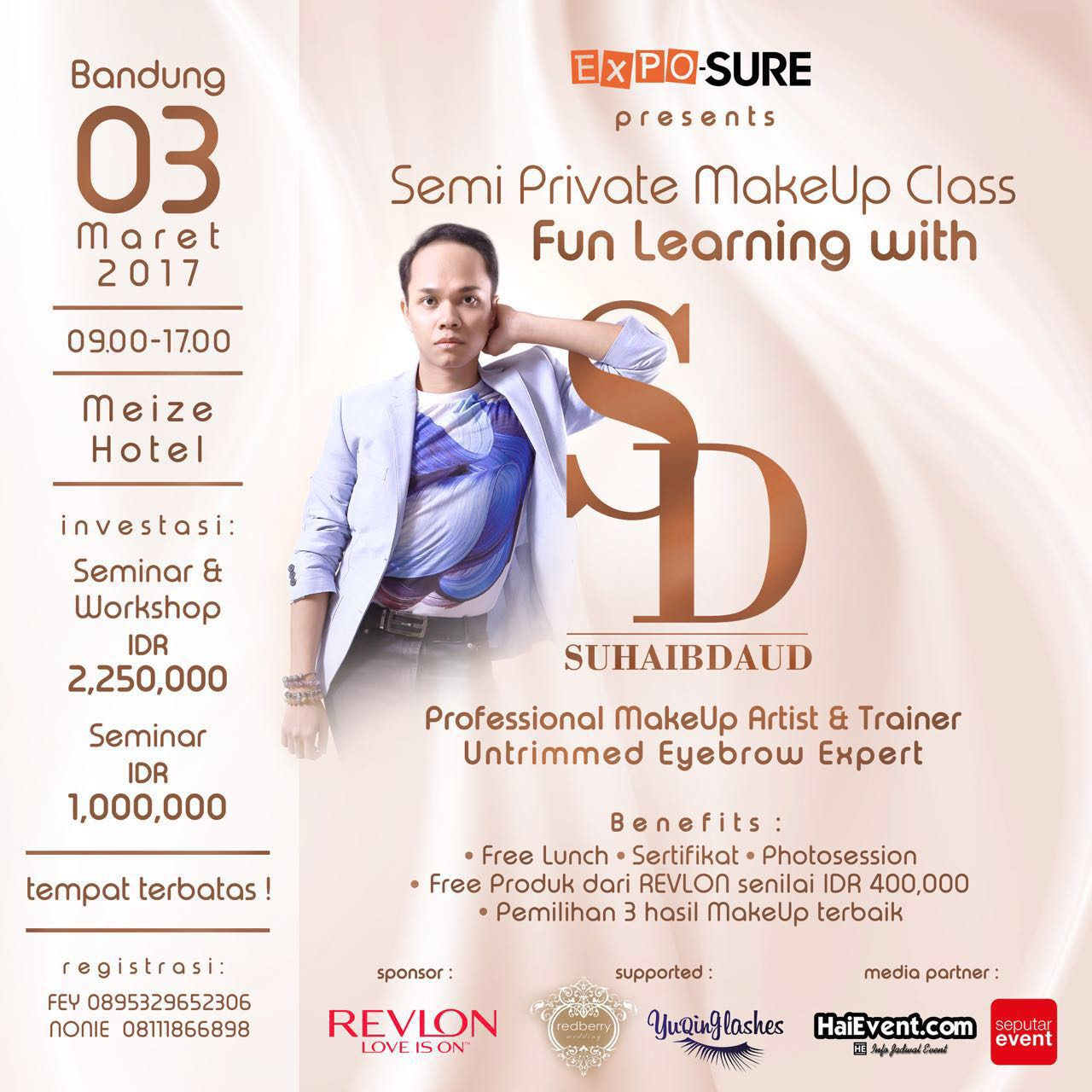 Semi Private Makeup Class with Suhaib Daud - Meize Hotel Bandung, 03 Maret 2017