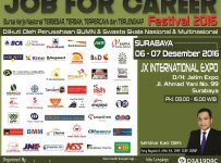 Surabaya Job For Career Festival - JX International Expo, 6 - 7 Desember 2016