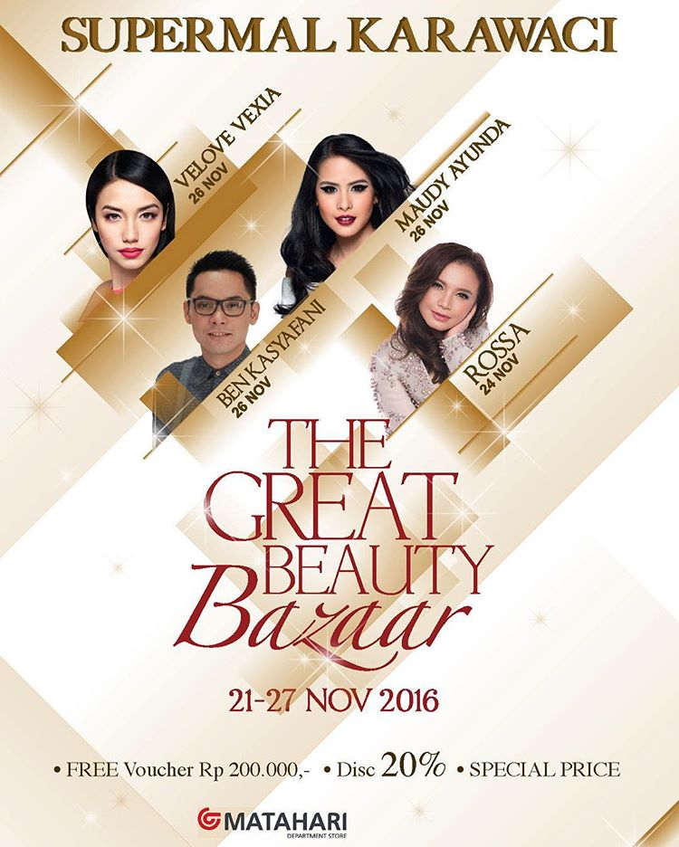 The Great Beauty Bazaar - Supermal Karawaci Tangerang, 21 - 27 November 2016