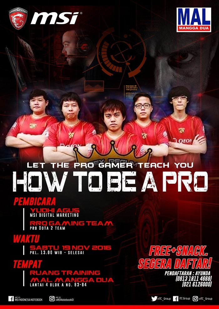 "Training oleh MSI ""How To Be A Pro"" - Mal Mangga Dua, 19 November 2016"