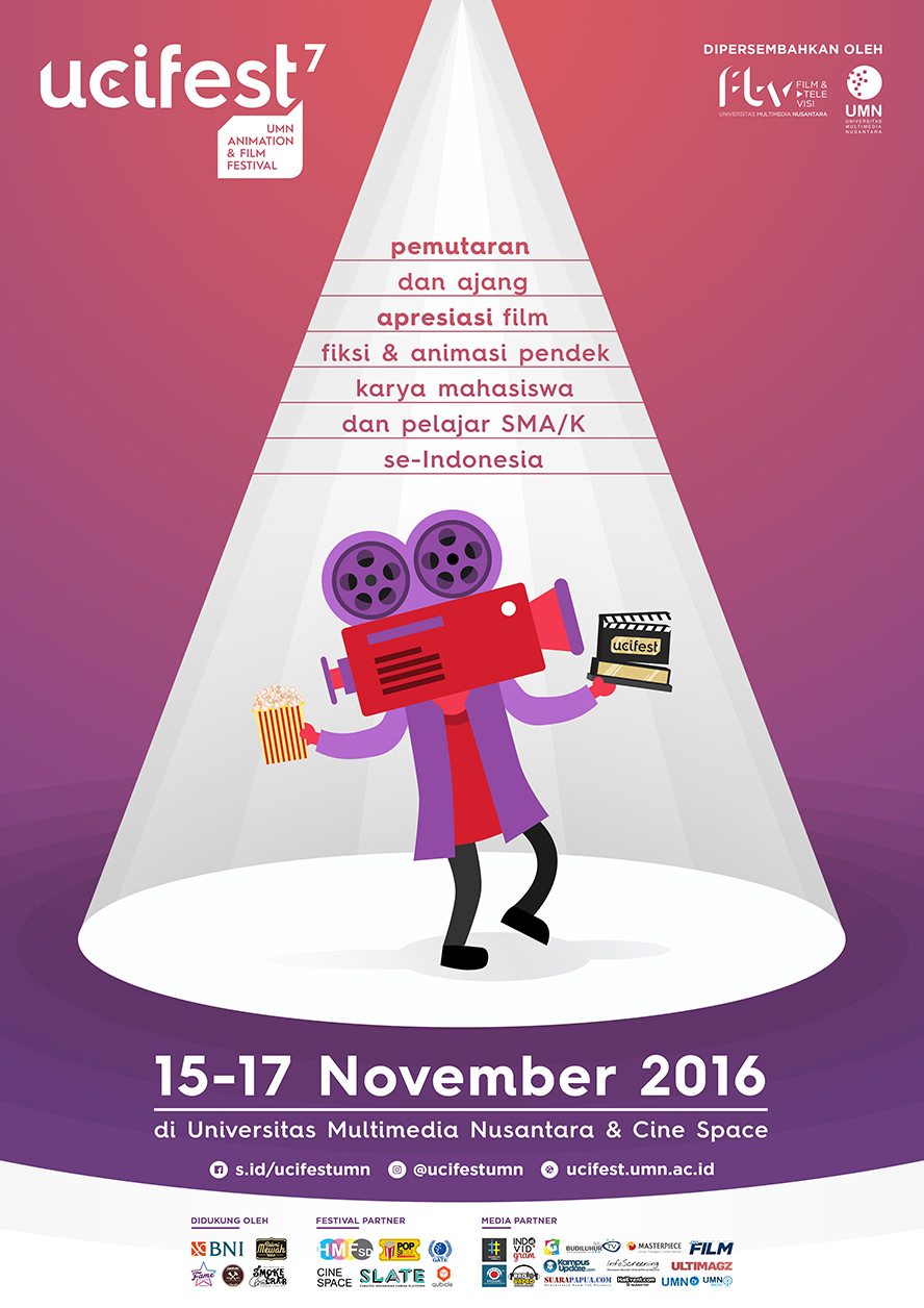 UCIFEST 7 : UMN Animation & Film Festival - Gedung New Media Tower, 15 - 17 November 2016