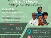 "We Care ""We Give Chances"" - Fakultas Psikologi UI, 26 November 2016"