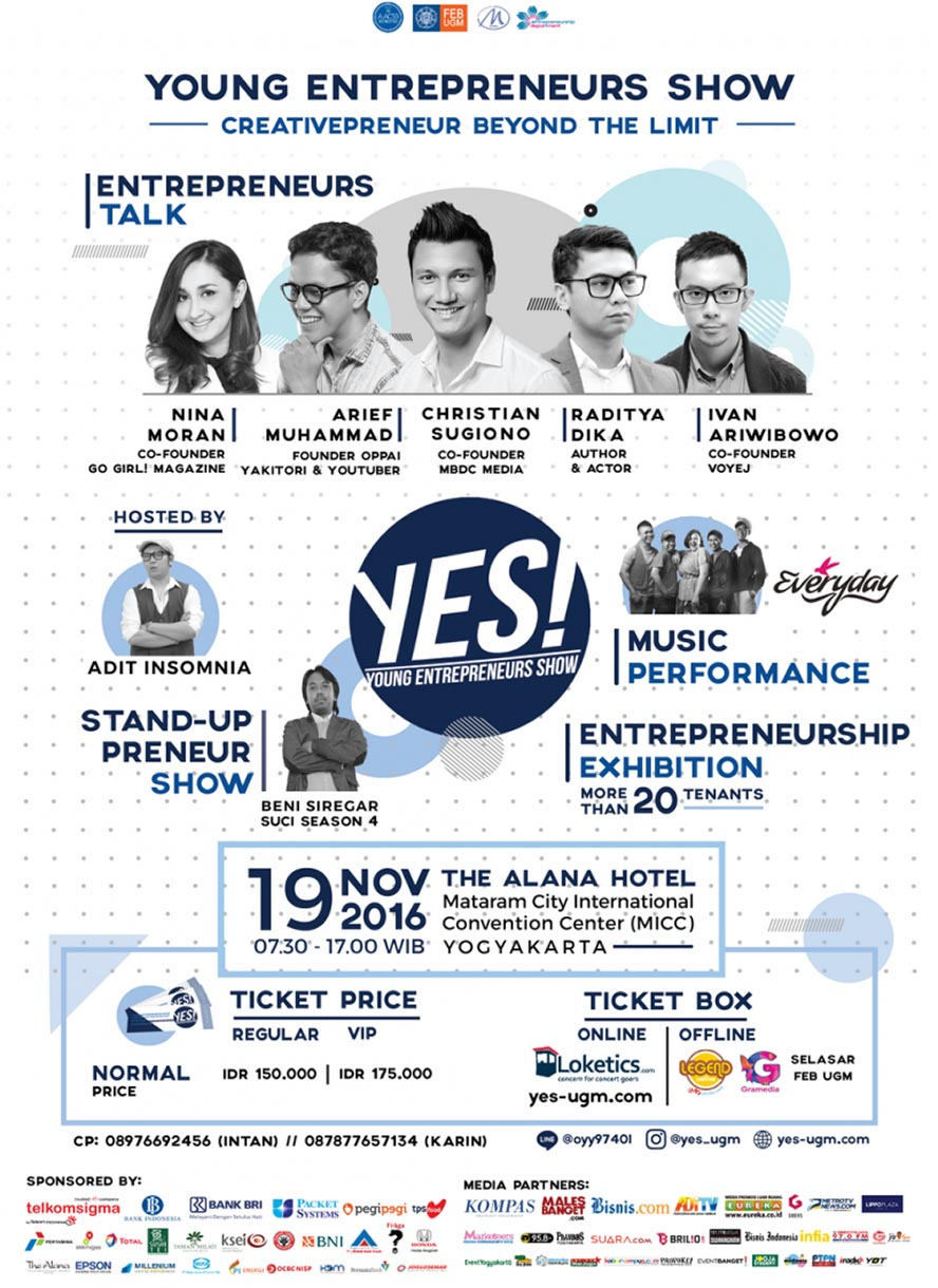 Young Entrepreneur Show (YES!) - Mataram City Yogyakarta, 19 November 2016