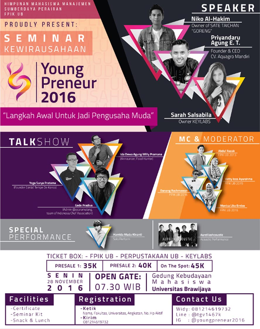 Youngpreneur - Universitas Brawijaya Malang, 28 November 2016