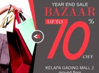 Avenue Year End Sale Bazaar - Mal Kelapa Gading, 14 Desember - 8 Januari 2017