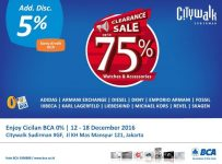 Bazaar Time International Citywalk Sudirman, 12 - 18 Desember 2016