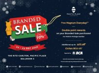 Branded Sale Up To 70% - Pacific Place Jakarta, 20 - 23 Desember 2016