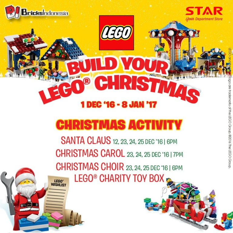 Build Your Lego Christmas - Summarecon Mall Serpong, 1 Des'16 – 8 Jan'17