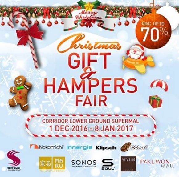 Christmas Gift & Hampers Fair - Supermal Pakuwon Indah Surabaya, 1 Des - 8 Jan 2017