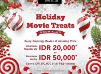 Cinemaxx Holiday Movie Treats - Maxx Box Lippo Village, 12 Desember - 8 Januari 2017