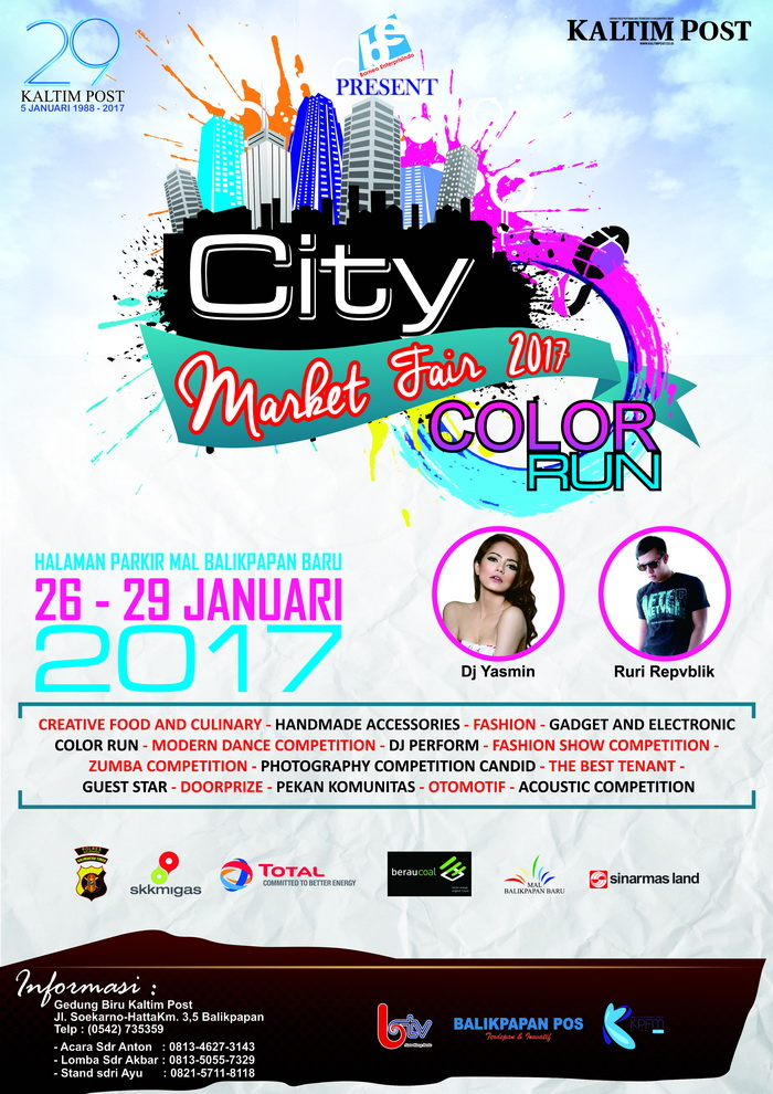 City Market Fair & Color Run - Mal Balikpapan Baru, 26 - 29 Januari 2017