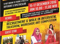 East Java Job & Entrepreneur Fair - Kaza City Mall Surabaya, 15 - 17 Desember 2016
