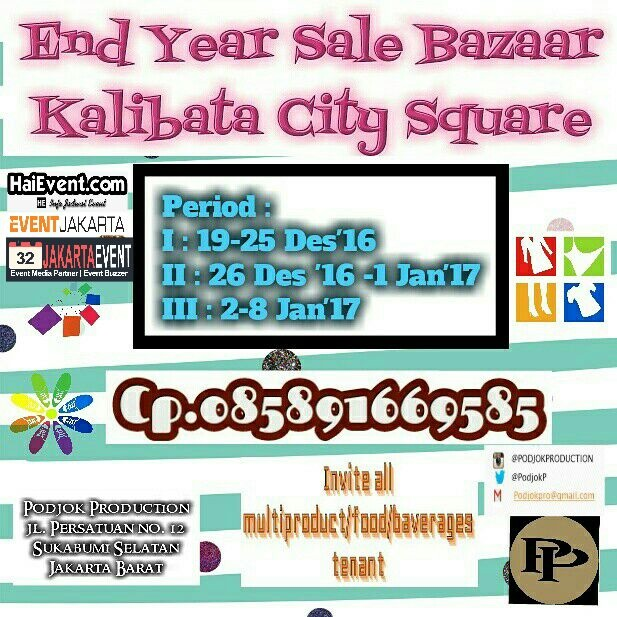 End Year Sale Kalibata City Square - Jakarta, 19 Desember - 8 Januari 20171