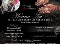 Henna Art Workshop with Akbar Henna (Duta Henna Indonesia) - Jakarta Design Center, 29 Januari 2017