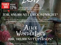 "Horison Jababeka New Year Eve 2017 ""Alice in Wonderland"" - Horison Jababeka, 31 Des - 01 Jan'17"