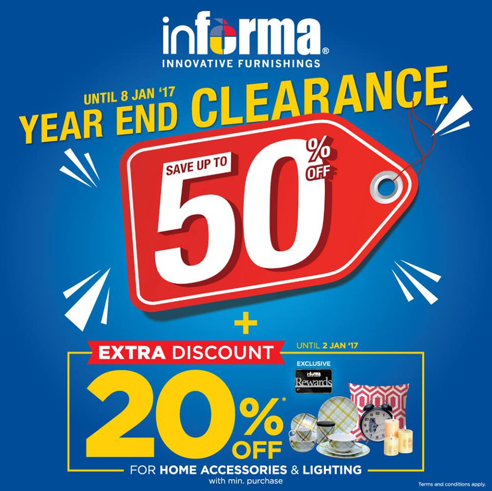 Informa Year End Clearance, Periode 26 Desember - 8 Januari 2017