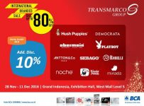 International Branded Sale Transmarco Group - Grand Indonesia, 28 Nov - 11 Des 2016